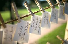 Even more place cards!