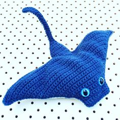 fulltiltnanna A-mah-zing Stingray Toy by Crochet Collective member @badsc1entist  He'll be online later in the week we are just taking a small breather to restock after yesterday's @essendonmarket and get out all the orders we took. Thanks to all you legends supporting handmade  #handmade #crochet #fulltiltnanna