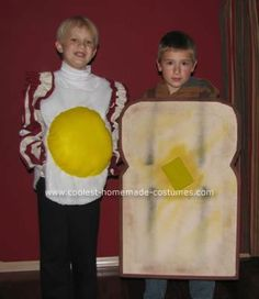 Coolest Homemade Bacon and Eggs with Toast Costume