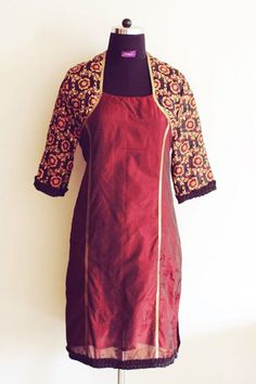 Our Maroon coatie/shrug style kurta after its ready and set to be delivered.