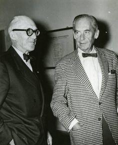 Le Corbusier and Walter Gropius, 1955 © Deutsches Historisches Museum