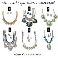 adornable.u accessories how would you make a statement