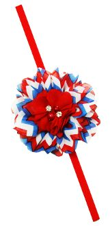 Chiffon Fabric Flower with Elastic Headband Skinny Headbands, Elastic Headbands, 4th Of July Celebration, Chiffon Fabric, Stylish Dresses, Fabric Flowers, Princess, Baby, 4th Of July Party