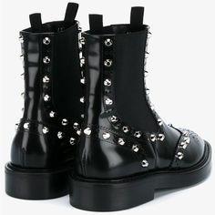 Balenciaga Balenciaga Studded Brogue Chelsea Boots (43.160 RUB) ❤ liked on Polyvore featuring shoes, boots, chelsea boots, black chelsea ankle boots, black brogue boots, studded leather boots and chelsea ankle boots