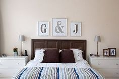 Make your own monograms to hang in a frame....the blogger tells how she made hers.