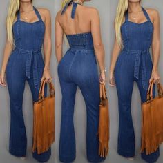 Sexy Dresses, Denim Outfits, Jumpsuit, Couture, Jumpers, Sweet, Fashion, Fashion Styles, Jean Outfits