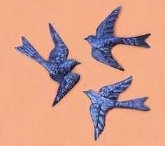 TRIO OF BIRDS Wall Art-Haitian Metal Sculpture-Beyond Borders-Recycled Drum