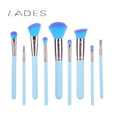 LADES Professional Makeup Brush Set 9pcs Makeup Brushes Powder Makeup Tools Kit New Arrival