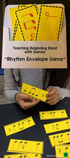 $6 Rhythm Envelope Game Vol. 1- 7 Sets total!  A great beginning band game or advanced band activity!