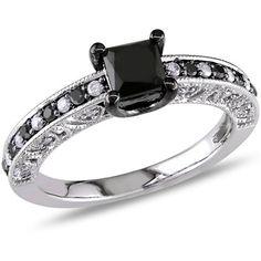 Fingerhut Diamore Sterling Silver 114 ct tw PrincessCut Black