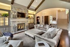 Dream living rooms dream home transitional living room dream living room with tv . dream living rooms dream home Small Living Room Layout, Living Room Designs, Home Living Room, Living Spaces, Apartment Living, Dream House Interior, Transitional Living Rooms, Transitional Style, Modern Living