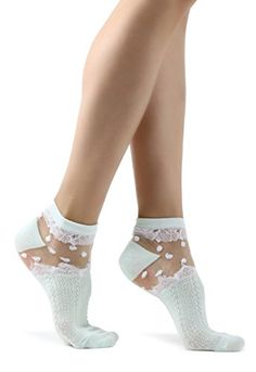 Women's Elegant Floral Socks Floral Lace On Invisible Mesh Ankle High Socks in 6 Colors Frilly Socks, Sheer Socks, Lace Socks, Ankle High Socks, Socks And Heels, Grip Socks, Boutique, Stockings Heels, Crazy Socks