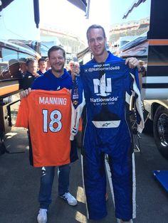 Dale & Peyton Manning meeting and exchanging game jerseys 4*17*16 @ Bristol
