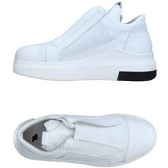 Cinzia Araia Sneakers ($520) ❤ liked on Polyvore featuring shoes, sneakers, white, genuine leather shoes, animal shoes, cinzia araia shoes, leather sneakers and rubber sole wedge shoes