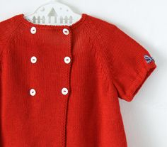 eb26aea72f4 knitted baby dress. Red. Hearts. 100% cotton. READY to SHIP size 3-6 months.
