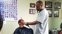 A great way for kids to brush up on reading skills? Why, reading to the barber, of course. That's the idea at one barbershop in Ypsilanti, Mich. Oh, and in Houston, Dubuque, Iowa, and Columbus, Ohio.