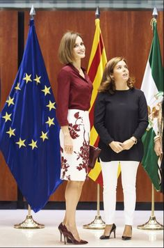 Royals & Fashion - King Felipe and Queen Letizia attended a luncheon in honor of 35 years of the Constitutional Court in Madrid.