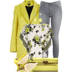 Grey & Yellow Outfit