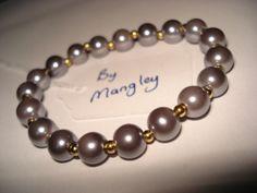 Glass Pearl Bracelet B116 £5 by Mangley Jewellery https://www.facebook.com/MangleyJewellery