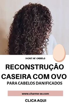 Capillary reconstruction with egg to recover fragile and damaged hair. Curly Hair Tips, Curly Hair Styles, Natural Hair Styles, Natural Hair Treatments, Rides Front, Colored Curly Hair, Diy Hair Mask, Hair Loss Shampoo, Regrow Hair