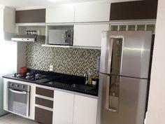 Resultado de imagem para moveis planejados espelhado para cozinha