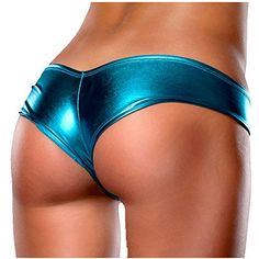 ceb0a68ec FEESHOW Women s Metallic Patent Leather Micro G-string Thongs Panties Royal  Blue One size  Set Include  Underwearbr   Condition  New without tagbr ...