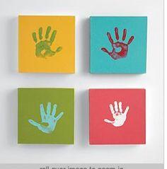 Tableaux pop-art à la Warhol avec empreintes mains