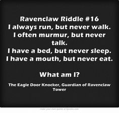 Ravenclaw riddle #16