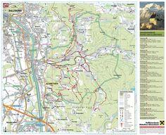 Walkingtours around elsbethen Salzburg, Map, Cards, Maps
