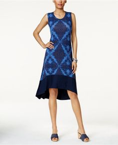 Style&Co. Style & Co Petite Printed High-Low Dress, Created for Macy's