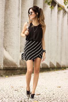 FashionCoolture - mix de estampas preto e branco listras Keds (6)