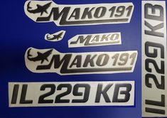 Mako  23 boat decal stickers graphic logo decal flats boats mako USA 23