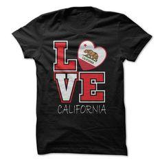 Love California Flag T-Shirt #Tshirt #TShirts