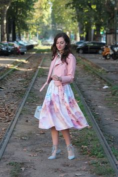 Un look candy per la Milano Fashion Week