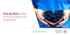 Con un beso sabor a mora seguro se enamora. SAGARPA SAGARPAMX #MéxicoAgroPotencia