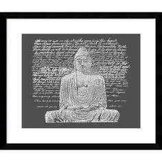 Framed Art Print 'Zen Buddha Sayings' by L.A. Pop Art 20 x 17-inch