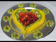 ❤️ Make a Fruit Center for Your Love - By J.Pereira Art Carving Fruits a...