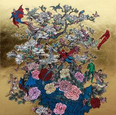 'Fly me to the Moon' by Jacky Tsai - Traditional Chinese art with a western sensibility...