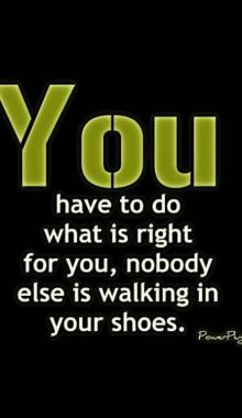 Do what is right...
