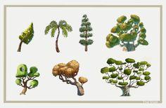 Estudo de árvores, bem interessante para os backgrounds de game que estou trabalhando no momento...