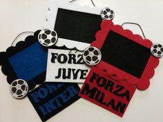 Cornice portafoto per tifosi delle squadre di calcio dell'Inter, la Juve e il Milan, by Amo a Mano, 7,00 € su misshobby.com