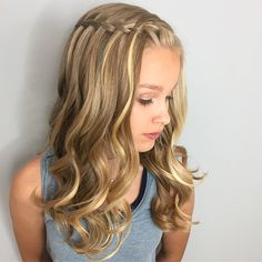 Styled this little stunner for her 8th grade graduation today apparently kids n… Styled this little stunner for her 8th grade graduation today  apparently kids nowadays skip the awkward middle school phase and go straight to be ..