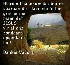 Sympathy Messages, My Redeemer Lives, Easter Messages, Afrikaanse Quotes, Easter Quotes, Gods Grace, Religious Quotes, Live Love, Bible Quotes