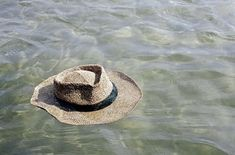Hat floating, green waters, Gulf of Mexico. Summer Girls, Summer Time, Summer Sun, The Painted Veil, Lakeside Living, Coastal Living, Green Beach, Green Ocean, Pond Life