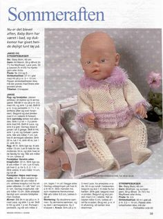 Album Archive - Dukketøj til Baby Born 1 - Ingelise Knitting Dolls Clothes, Baby Doll Clothes, Crochet Doll Clothes, Doll Clothes Patterns, Crochet Dolls, Barbie Clothes, Doll Patterns, Barbie Dolls, Knitting Patterns