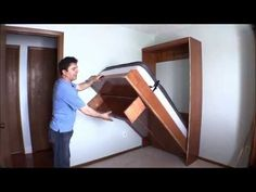How I built my wall bed quickly and easily with Easy DIY Murphy Bed hardware kit. - YouTube