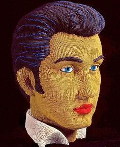 Elvis in beads