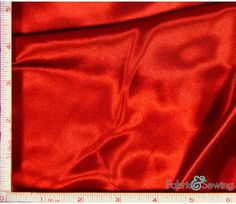 Red Shiny & Dull Stretch Charmeuse Satin Fabric 4 Way Stretch Polyester Spandex 5 Oz 57-58""