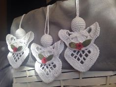 Crochet Angel  Set of 3 Angels / Christmas by CrochetGift4You