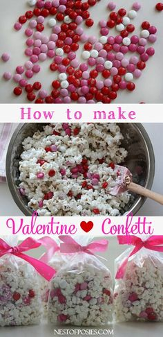 Valentine Confetti - Nest of Posies  #yearofcelebrations.  Take home favor for girls' tea party.